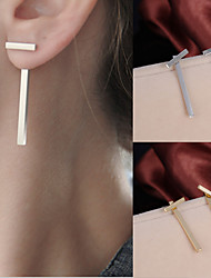 cheap -Men's / Women's Stud Earrings - Simple Style, Fashion Gold / Silver For Wedding / Party / Daily