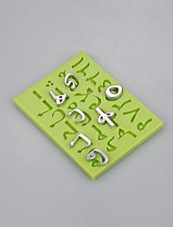 Nuevo molde de la carta accesorios de la cocina fondant molde del silicón torta que adorna las herramientas color al azar