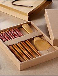 Chopsticks Set Tableware Bamboo Environment Day Promotional Gifts Wedding Favor Wedding Supplies