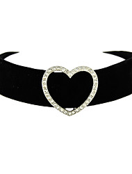 cheap -Women's Heart Choker Necklace Tattoo Choker - Tattoo Style Sexy Heart Heart Black Necklace For Thank You Daily Valentine