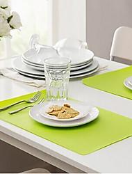 cheap -Rectangle Placemat Table Mat Anti-fouling EVA(Random Colour)