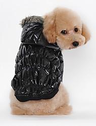 Katze Hund Mäntel Kapuzenshirts Hundekleidung Lässig/Alltäglich warm halten Solide Schwarz Kaffee Rot Blau Kostüm Für Haustiere