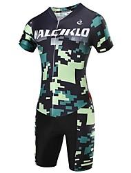 baratos -Malciklo Camisa com Shorts para Ciclismo Homens Manga Curta Moto Triatlo Roupas de Compressão Conjuntos de RoupasSecagem Rápida Zíper