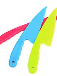 1Pcs Plastic Serrated Cake Bread Pie Slicer Knife Cutter Lettuce Kitchen Tools Gadget (Random Color)