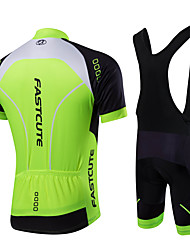 086f14c1f Fastcute Men s Short Sleeve Cycling Jersey with Bib Shorts - Black Solid  Color Plus Size Bike Bib Shorts Jersey Bib Tights Breathable 3D Pad Quick  Dry ...