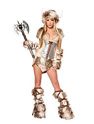 preiswerte -Soldat/Krieger Cosplay Kostüme Party Kostüme Frau Halloween Fest / Feiertage Halloween Kostüme Kaffee Leopard