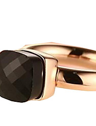 Band Rings,Jewelry Stainless Steel Fashionable Daily / Casual Black / Red / Blue / Purple / Pink 1pc,6 / 7 / 8 Women