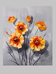 50 x 60cm mão pintura a óleo pintado flor floral com moldura