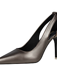 preiswerte -Damen Schuhe Glitzer PU Frühling Sommer Pumps Komfort High Heels Stöckelabsatz Geschlossene Spitze Spitze Zehe Glitter für Büro &
