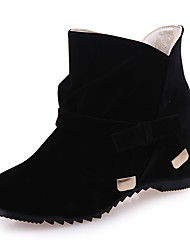 Women's Boots Comfort Spring Fall Fleece Casual Office & Career Low Heel Black Beige Ruby Under 1in