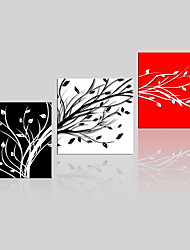 cheap -JAMMORY Canvas Set Landscape ,Three Panels Gallery Wrapped, Ready To Hang Vertical Print No Frame Trunk Branches