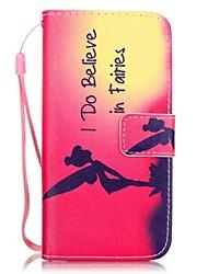 Недорогие -Кейс для Назначение Apple iPhone 8 Pluss / iPhone 8 / iPhone 7 Plus Бумажник для карт / С узором Чехол Соблазнительная девушка Твердый Кожа PU