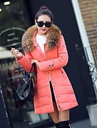 abordables -Mujer Abrigo Largo - Estilo formal, Un Color