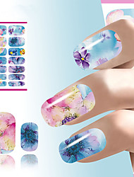 Abstract Nail Art Sticker Flower Water Decals Decoration Chinese Ink Painting Nail Wraps For Nails Manicure Decorations