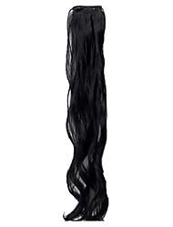 Недорогие -Классика Расширения человеческих волос Черный Темно-русый Темно-коричневый Классика Высокое качество Повседневные
