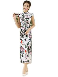 cheap -One-Piece Short Sleeve Long Length Green Lolita Dress Polyester