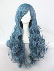 cheap -Synthetic Wig Curly Blue Capless Cosplay Wig Synthetic Hair