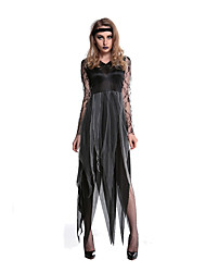 cheap -Costumes Vampires Halloween Black Print Terylene Dress / More Accessories