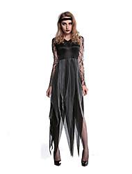 Vampiros Disfraces de Cosplay Ropa de Fiesta Mujer Halloween Festival/Celebración Disfraces de Halloween Negro Estampado