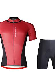 economico -ILPALADINO Per uomo Manica corta Maglia con pantaloncini da ciclismo - Nero Bicicletta Set di vestiti, Pad 3D, Asciugatura rapida,