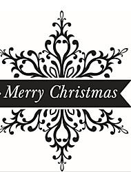 Merry Christmas On Snowflake Christmas Decoration Shop Window Glass Sticker Xmas New Year Party Home Decor Decoration