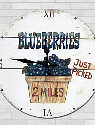 cheap -1PC European Style Rural Wooden Wall Clock  Retro Nostalgia Wood Grain Pattern(Pattern is Random)