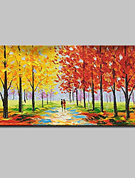 cheap -Large Size Hand Painted Modern Abstract Knife Landscape Oil Paintings On Canvas With Stretched Frame Ready To Hang