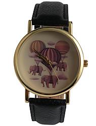 cheap -Women's Quartz Wrist Watch / Hot Sale PU Band Casual Fashion Black