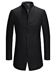 cheap -Men's Solid Casual / Work / Formal / Plus Size CoatWool / Acrylic / Polyester / Nylon Long Sleeve-Black / Blue