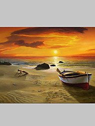 cheap -Hand-Painted Landscape Horizontal, Classic Modern Canvas Oil Painting Home Decoration One Panel