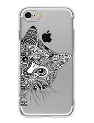 Pour iPhone 8 iPhone 8 Plus iPhone 7 iPhone 7 Plus iPhone 6 Etuis coque Motif Coque Arrière Coque Chat Flexible PUT pour Apple iPhone 8