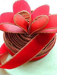 2pcs décoration de Noël pour le diamètre de la maison partie 3.5 * 200cm navidad nouvelles fournitures année de ruban de soie