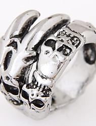 cheap -Men European Style Vintage Retro Fashion Exaggerated Skull Band Rings