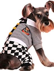 Gatti / Cani Cappottini / Felpa / Tuta / Pantalone Grigio Abbigliamento per cani Inverno / Primavera/Autunno FioccoVacanze / Di tendenza