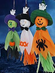 Недорогие -3шт призраки гирлянд овсянка Хэллоуин украшения ткани привидения натягивает фото реквизита фоне стены фестиваль декора