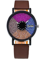cheap -Women's Quartz Casual Fashion Watch PU Belt Round Alloy Multi-colored Shining Dial Watch Cool Watch Unique Watch