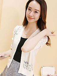cheap -Women's Cardigan - Solid, Cut Out