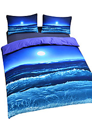 cheap -New Beach Ocean Duvet Cover Set 3D Bedding Set Twin Full Queen