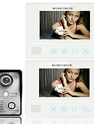 cheap -ENNIO7 7 Inch TFT Touch Screen Color LCD Video Door Phone Wired Video Intercom 2 Monitor Doorbell Intercom system