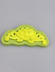Bolo vintage bolo laço floral amor decoração artesão fondant silicone mofo casamento flor cor aleatória
