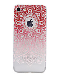 TPU Material Big Red Flower Pattern Stained Phone Case for iPhone 7Plus 7 6sPlus 6 Plus 6s 6 SE 5s 5