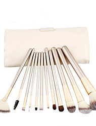 cheap -12pcs Makeup Brushes Professional Makeup Brush Set Nylon / Others / Horse Portable / Eco-friendly / Professional Wood Middle Brush /