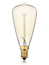 Недорогие -st48 e14 40 Вт накаливания старинные лампы накаливания для домашнего бара кафе отеля (ac220-240v)