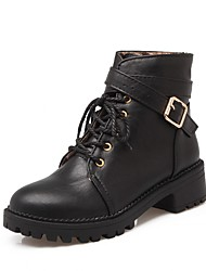 cheap -Women's Shoes Patent Leather Leatherette Winter Fall Novelty Cowboy / Western Boots Combat Boots Bootie Motorcycle Boots Fashion Boots