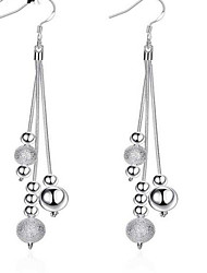 cheap -Women's Drop Earrings - Sterling Silver, Silver Plated Tassel, European, Fashion White For Daily / Casual