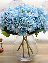 Set of 1 PCS 1 Ramo Poliéster Hortênsia Flor de Mesa Flores artificiais 17*5.9