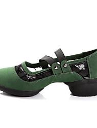 preiswerte -Damen Modern Tanzstiefel Wildleder Sneaker Draussen Praxis Niedriger Heel Schwarz Rot Grün Keine Maßfertigung möglich