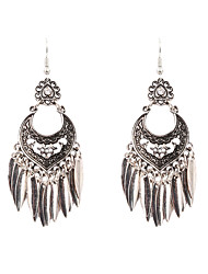 cheap -Women's Drop Earrings - Rhinestone Leaf Vintage, Bohemian, Punk Silver For Party / Daily / Casual