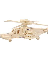 Недорогие -3D пазлы Пазлы Деревянные пазлы Вертолет Shark Дерево Мальчики Девочки Игрушки Подарок