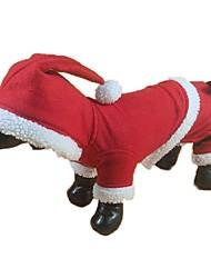 economico -Gatto Cane Costumi Felpe con cappuccio Tuta Abbigliamento per cani Romantico Cosplay Natale Solidi Rosso Costume Per animali domestici